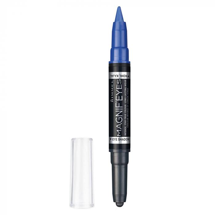 Fard de pleoape si Tus carioca Rimmel London Magnif'eyes Double, 004 Dark Side of Blue, 1.6 g-big