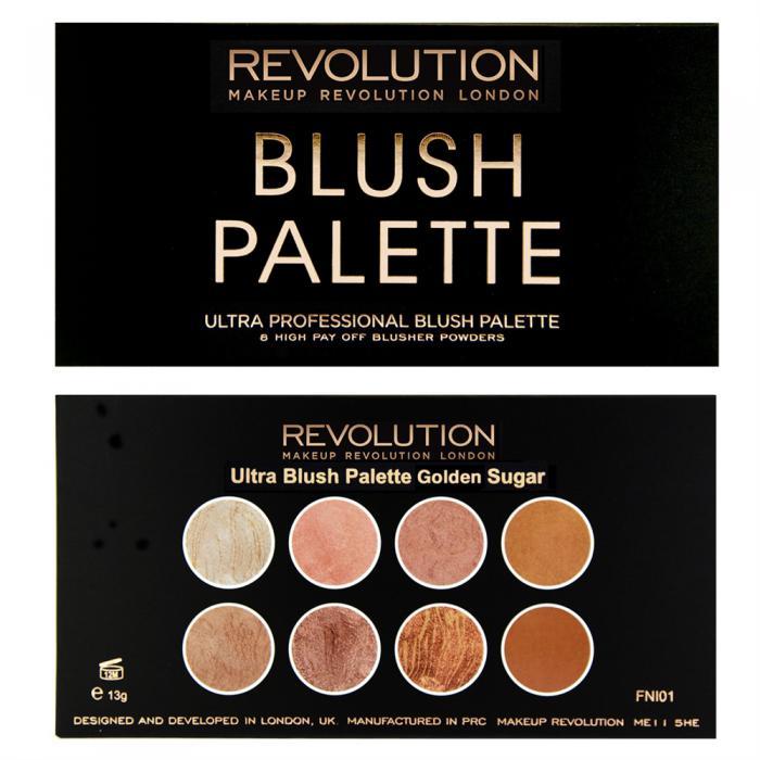 Paleta Cu 8 Blush-uri Makeup Revolution Ultra Blush  Golden Sugar-big