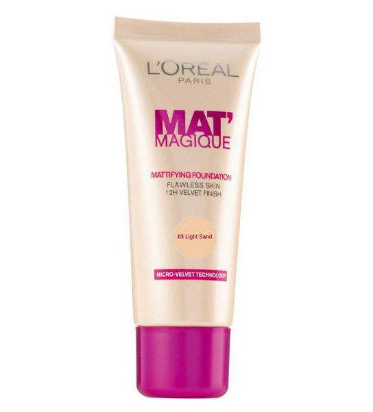 Fond de Ten L'OREAL Mat Magique Mattifying - 03 Light Sand, 25ml-big