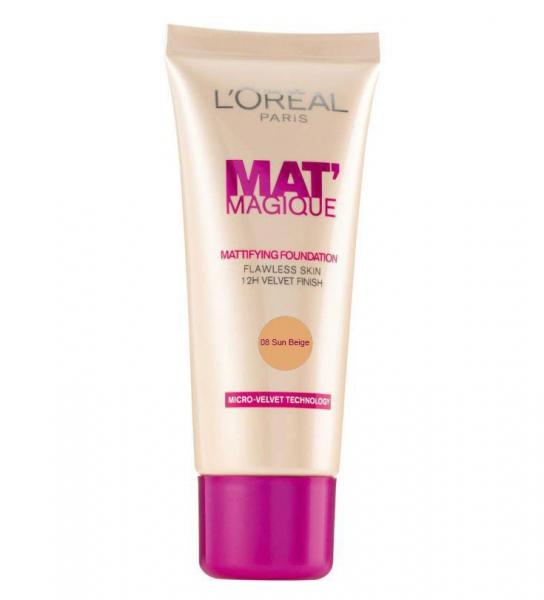 Fond De Ten L'OREAL Mat Magique Mattifying - 08 Sun Beige, 25ml-big