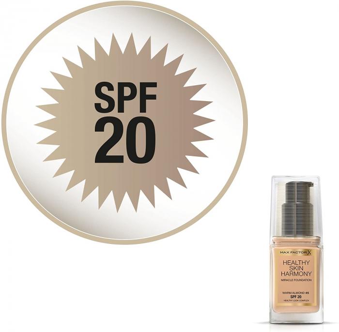 Fond de ten Max Factor Healthy Skin Harmony Miracle, 45 Warm Almond, 30 ml-big