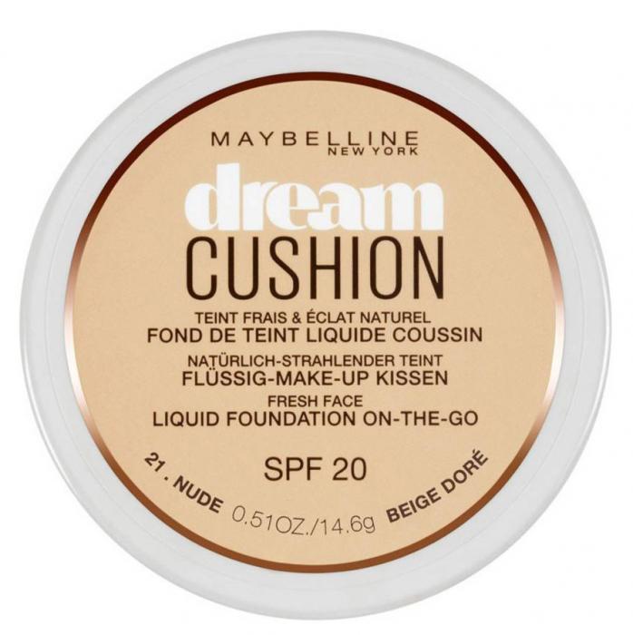 Fond de ten Maybelline Dream Cushion Liquid Foundation, 21 Nude, 14.6 g-big