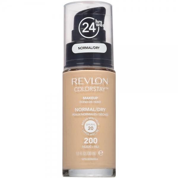 Fond De Ten Revlon Colorstay Normal / Dry Skin Cu Pompita - 200 Nude, 30 ml-big