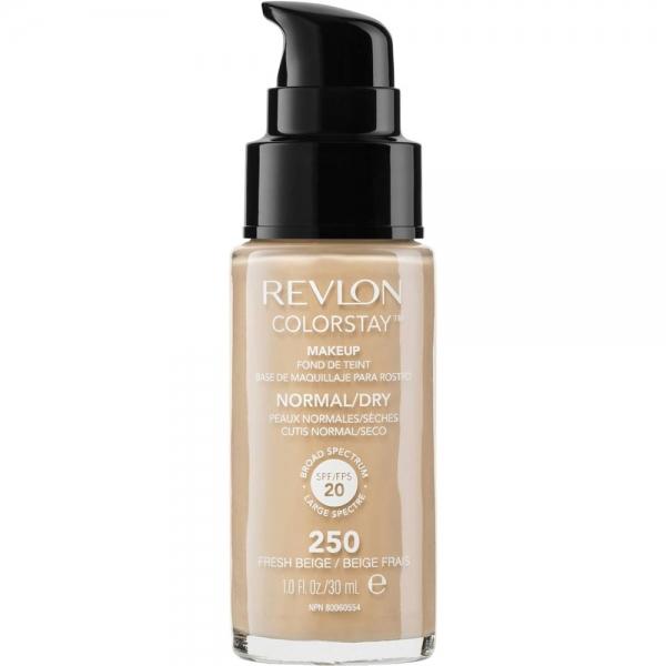 Fond De Ten Revlon Colorstay Dry Skin Cu Pompita - 250 Fresh Beige, 30 ml-big
