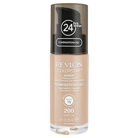 Fond De Ten Revlon Colorstay Oily Skin Cu Pompita - 200 Nude, 30ml-big