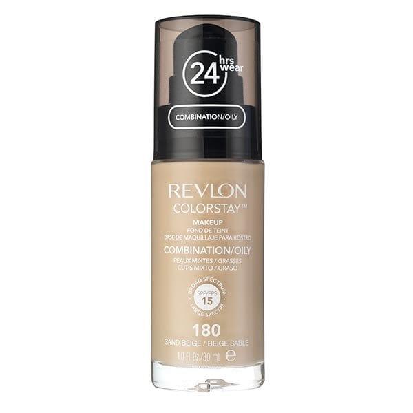 Fond De Ten Revlon Colorstay Oily Skin Cu Pompita - 180 Sand Beige, 30ml-big