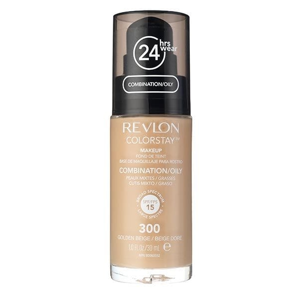 Fond De Ten Revlon Colorstay Oily Skin Cu Pompita - 300 Golden Beige, 30ml-big