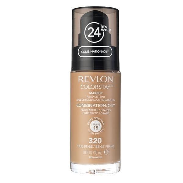 Fond De Ten Revlon Colorstay Oily Skin Cu Pompita - 320 True Beige, 30ml-big