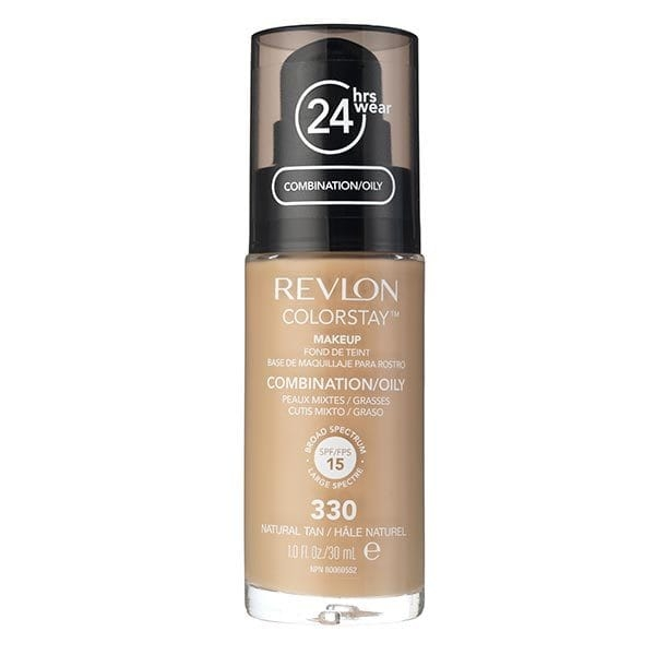 Fond De Ten Revlon Colorstay Oily Skin Cu Pompita - 330 Natural Tan, 30ml-big