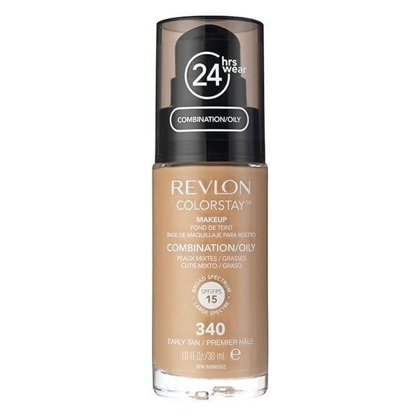 Fond De Ten Revlon Colorstay Oily Skin Cu Pompita - 340 Early Tan, 30ml-big
