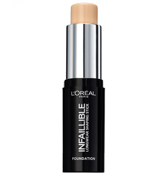 Fond de Ten Stick L'Oreal Paris Infaillible Longwear Shaping Stick, 190 Golden Beige, 9 g-big