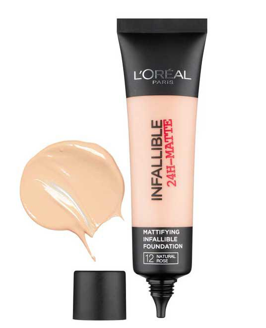 Fond De Ten Matifiant L'oreal Infallible 24 Hr Matte - 12 Natural Rose-big