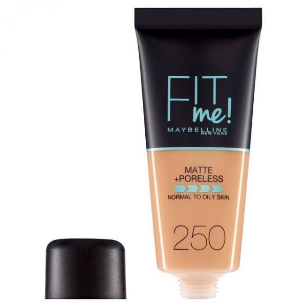 Fond de ten MAYBELLINE FIT ME Matte & Poreless 250 Sun Beige, 30 ml-big