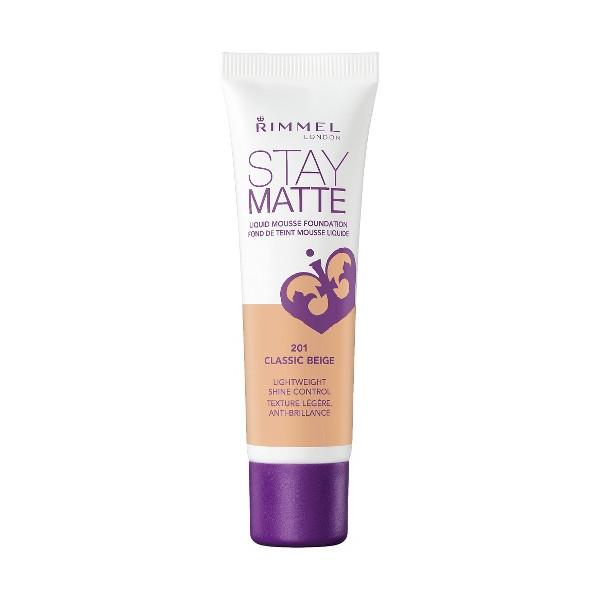 Fond De Ten RIMMEL STAY MATTE Liquid Mousse - 201 Classic Beige,30 ml-big