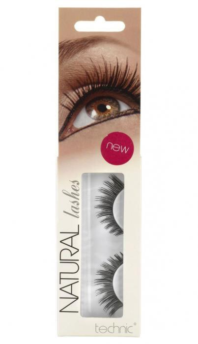 Gene False cu Aspect Natural TECHNIC Natural Lashes, adeziv inclus A13-big