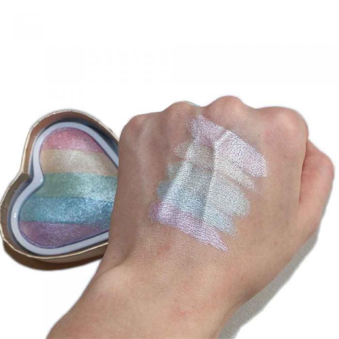 Iluminator Makeup Revolution I Heart Makeup a Rainbow Highlighter made by unicorns - Unicorns Heart-big