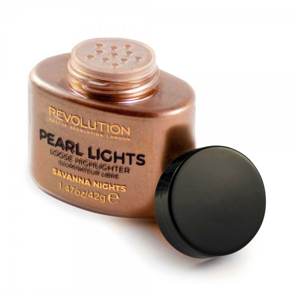 Iluminator Pulbere MAKEUP REVOLUTION Pearl Lights Loose Highlighter - Savana Nights, 25 g-big