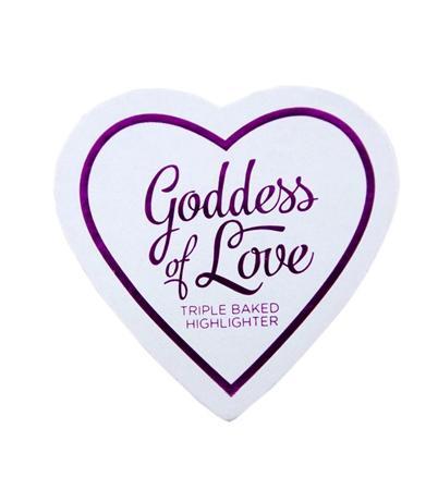 Iluminator Makeup Revolution I Heart Makeup Blushing Hearts Baked Highlighter - Goddess Of Faith, 10g-big
