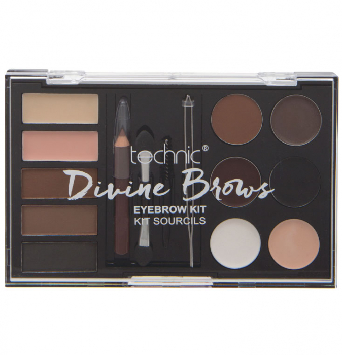Kit complet pentru sprancene TECHNIC DIVINE Brows, Eyebrow Kit-big