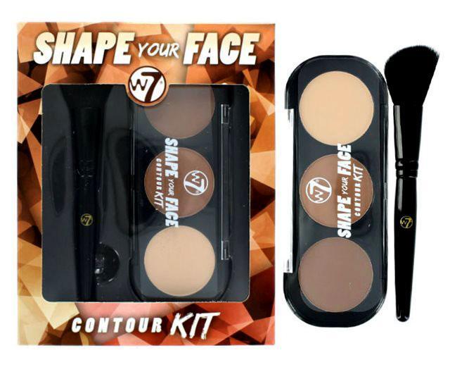 Kit cu 3 Nuante Speciale Pentru Conturarea Fetei W7 SHAPE YOUR FACE-big