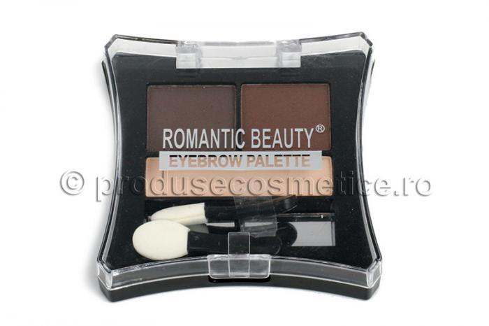 Kit de Sprancene Romantic Beauty cu 3 Pudre pentru Definire - 02 Medium-big