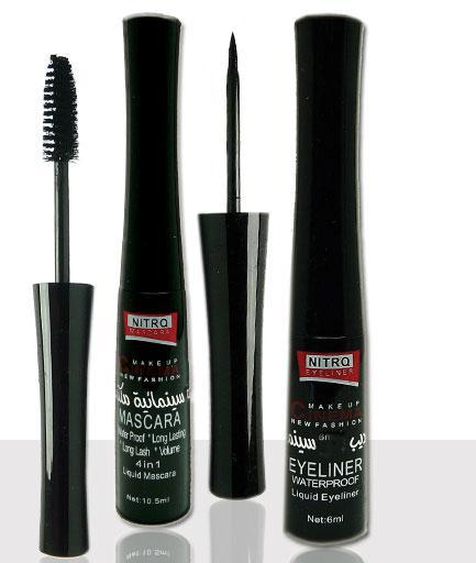 Rimel Nitro Make-up Cinema Mascara Waterproof cu Tus De Ochi - Negru-big