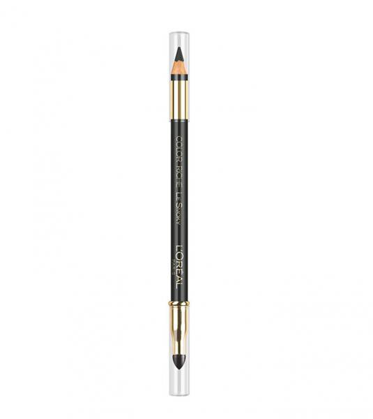 Creion de Ochi L'OREAL Color Riche Le Smoky - 202 Mystic Grey, (Gri Inchis Intens)-big