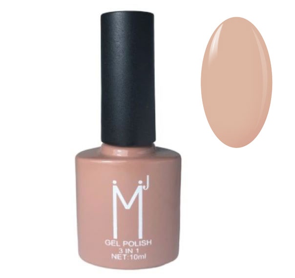 Oja semipermanenta 3 in 1, MJ Gel Polish, Nuanta 066, Nude Choco, 10 ml-big