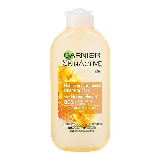 Lapte demachiant 96% Ingrediente Naturale, Garnier Skin Active Botanical, Honey Flower, Ten Uscat, 200 ml-big