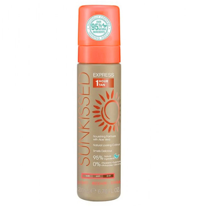 Spuma Autobronzanta Profesionala SUNKISSED Express 1 Hour, Light-Ultra Dark, 95% Ingrediente Naturale, 200 ml-big