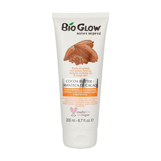 Lotiune hidratanta Bio Glow cu Unt de Cacao si Nuci Macadamia pentru piele uscata, 200 ml-big