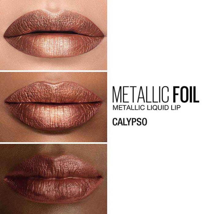 Luciu de buze cu efect metalic MAYBELLINE New York Metallic Foil, 110 Calypso, 5 ml-big