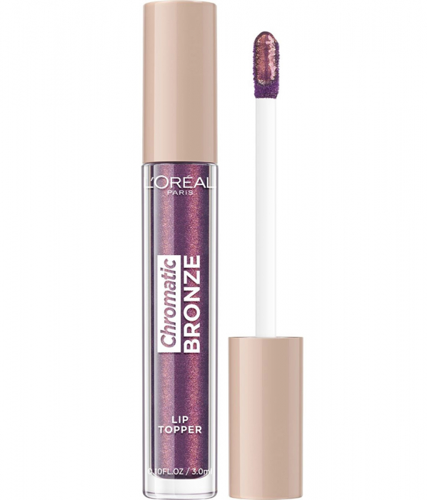 Luciu de Buze Metalizat L'Oreal Paris Chromatic Bronze Lip Topper, 03 Purple Fizz, 3 ml-big