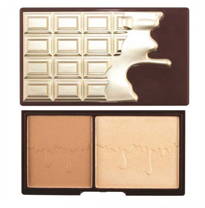 Paleta pentru conturare, iluminare si bronz MAKEUP REVOLUTION I Heart Makeup - Bronze and Glow-big