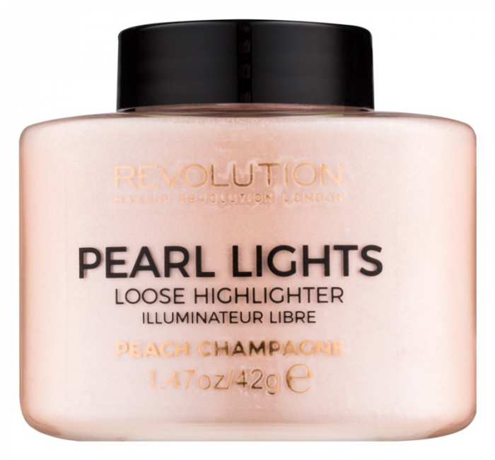 Iluminator Pulbere MAKEUP REVOLUTION Pearl Lights Loose Highlighter - Peach Champagne, 25 g-big
