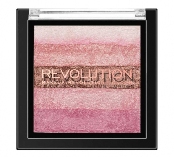 Paleta iluminatoare cu farduri de obraz MAKEUP REVOLUTION Shimmer Brick Pink Kiss, 7g-big