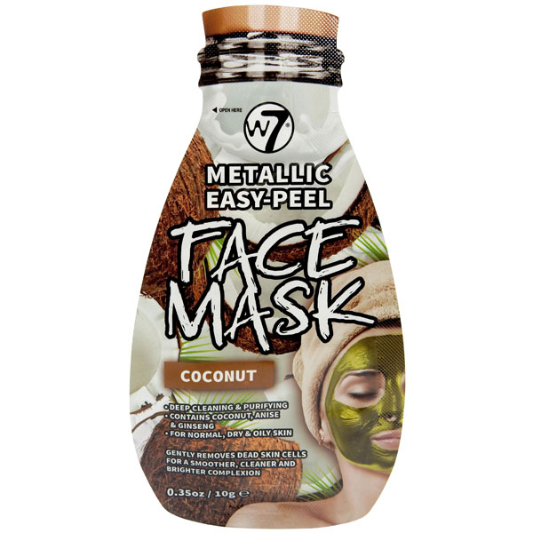Masca Metalica cu Cocos W7 Metallic Easy-Peel Vitamin Coconut Face Mask, 10 g-big