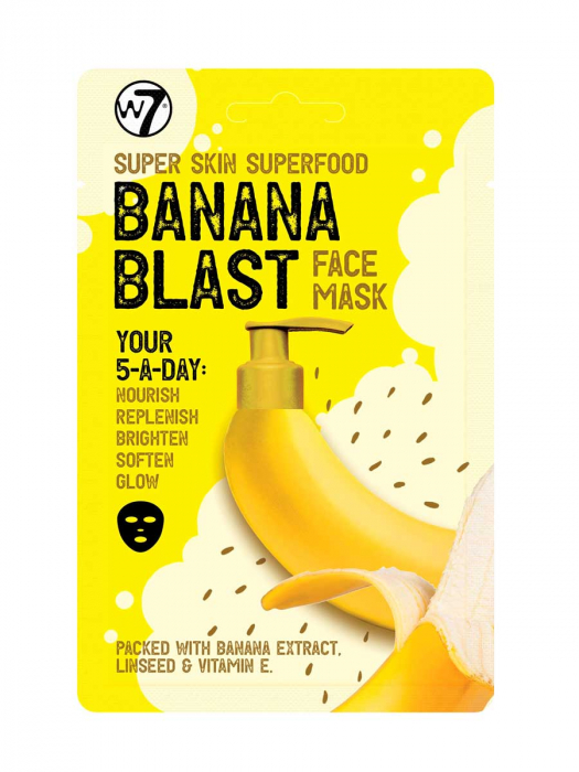 Masca hranitoare W7 Super Skin Superfood Banana Blast Face Mask, 18 g-big