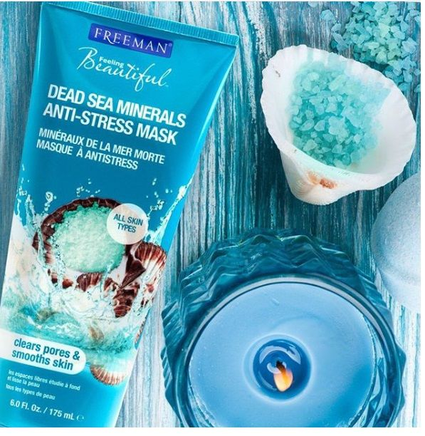 Masca cu minerale FREEMAN Anti-Stress Dead Sea Minerals Clay Mask, 175 ml-big