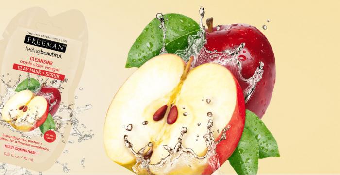 Masca de curatare multifunctionala FREEMAN Cleansing Apple Cider Vinegar Clay Mask, 15 ml-big