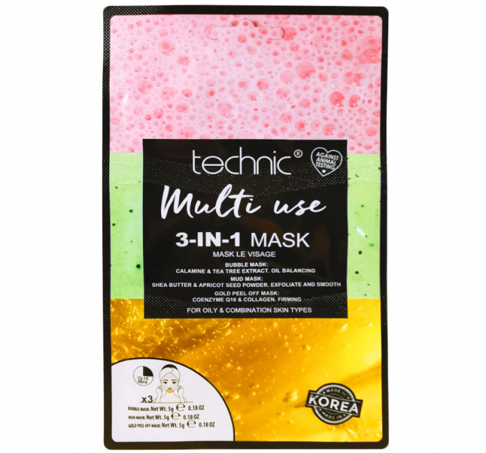 Masca pentru Ten Gras TECHNIC Multi Use 3-In-1 Mask, 18 g-big