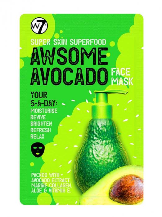 Masca hranitoare W7 Super Skin Superfood Awsome Avocado Face Mask, 18 g-big
