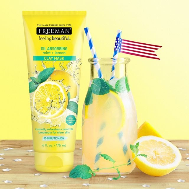 Masca pentru tenul gras FREEMAN Oil Absorbing Mint + Lemon Clay Mask, 175 ml-big