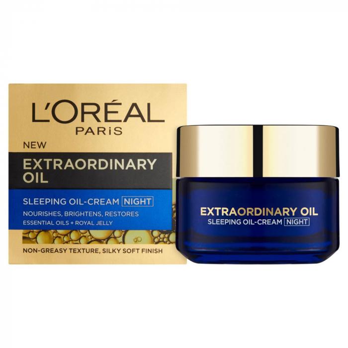 Masca regeneranta de noapte cu uleiuri esentiale L'Oreal Paris Extraordinary Oil, 50 ml-big