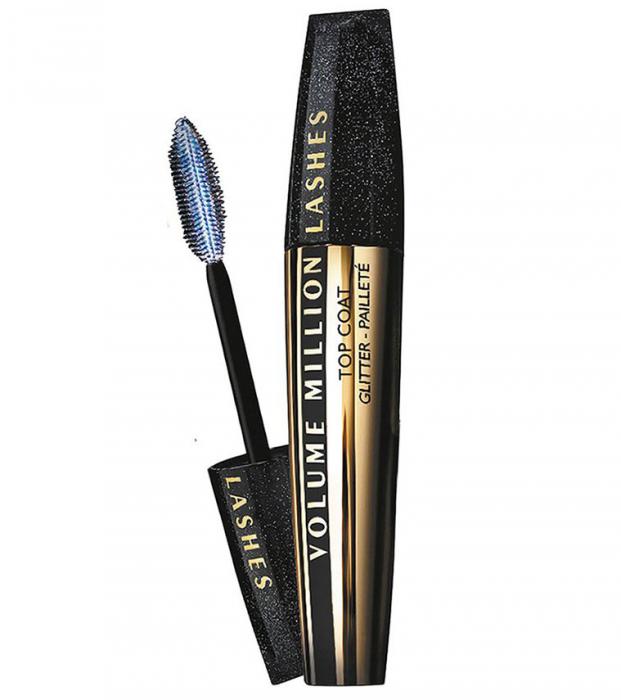 Mascara Transparent cu Sclipici L'Oreal Paris Top Coat Volume Million Lashes Glitter, 9 ml-big