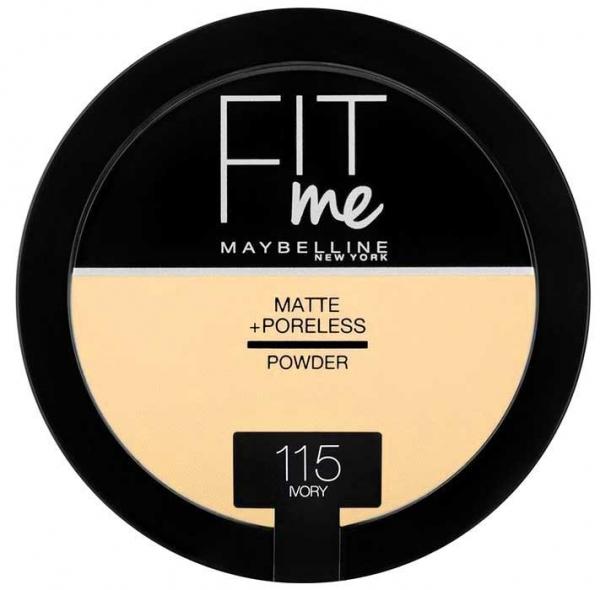 Pudra compacta matifianta Maybelline New York Fit Me Matte & Poreless Pressed Powder  - 115 Ivory, 14 gr-big