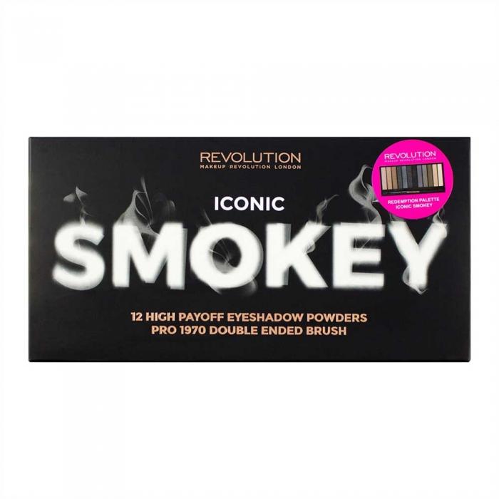 Paleta Cu 12 Farduri  MAKEUP REVOLUTION Iconic Smokey, 13 gr-big