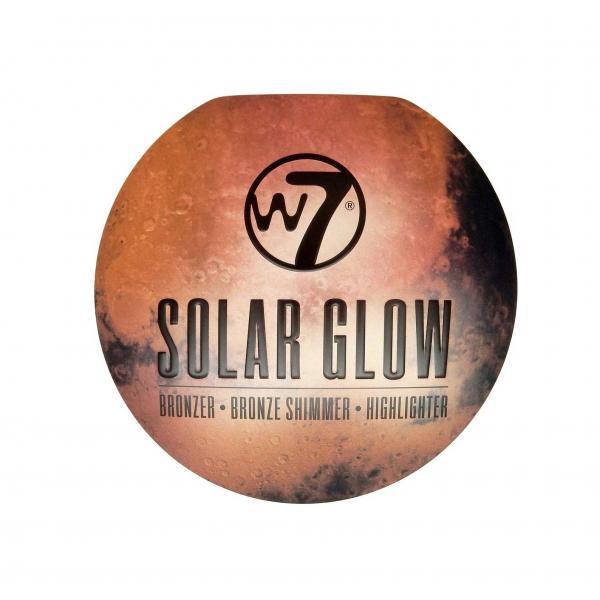 Paleta cu Iluminatoare Bronzante W7 Solar Glow Bronzer Shimmer & Highlighter, 3x3g-big