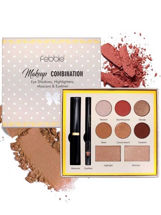 Kit makeup Febble Makeup Combination Eye Shadows, Highlighters, Mascara & Eyeliner-big