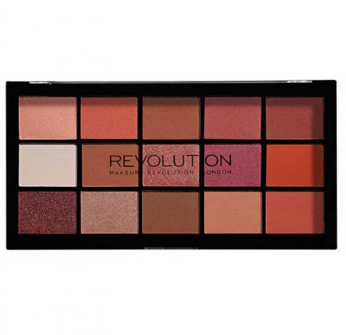 Paleta de farduri Makeup Revolution - Re-Loaded Palette - Newtrals 2, 15 Nuante-big